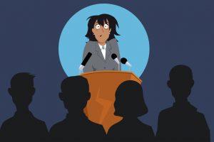 Ångest för att hålla föredrag